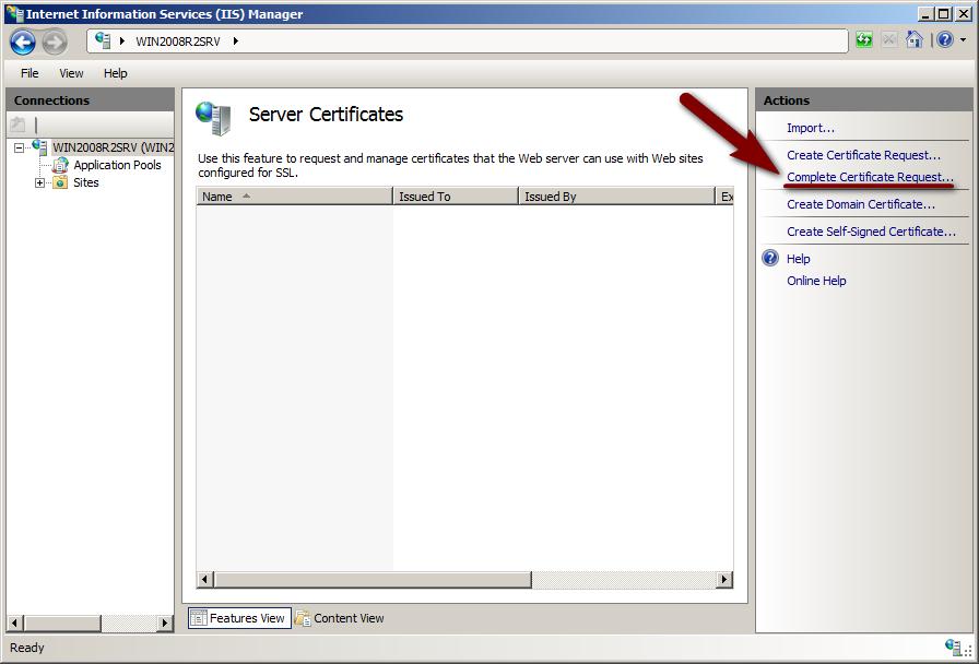 Sslcertificate Ssl Installation In Iis7 Certificate